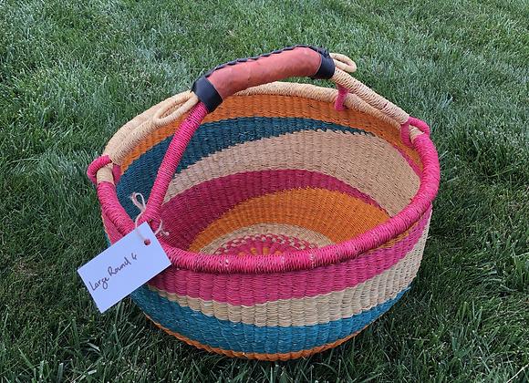 Large Round Market Basket 6