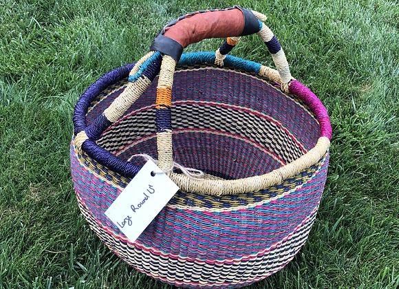 Large Round Market Basket 15