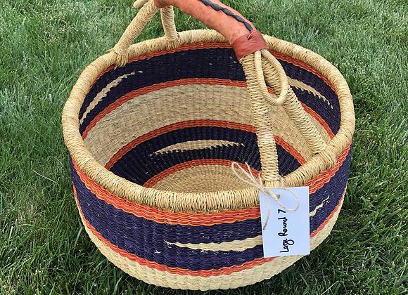 Large Round Market Basket 7