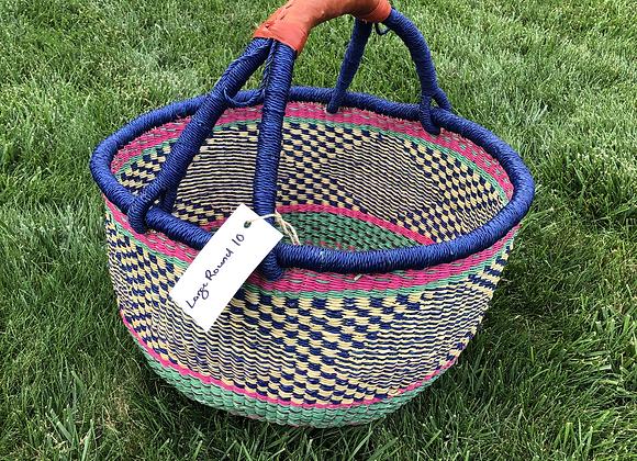 Large Round Market Basket 10