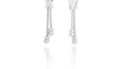 Boucles oreilles pendantes argent Infini
