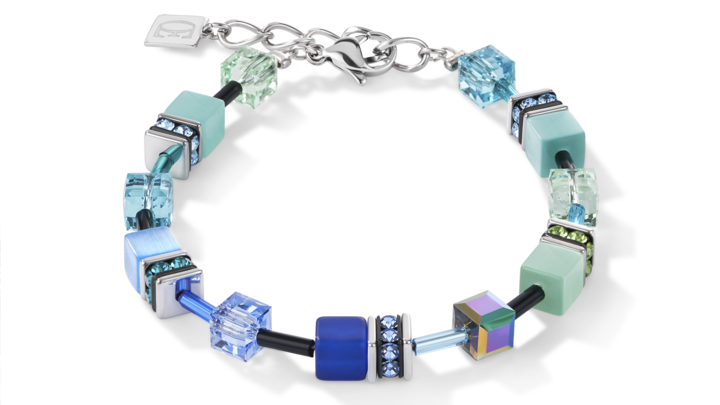 Bracelet GeoCUBE® bleu-vert