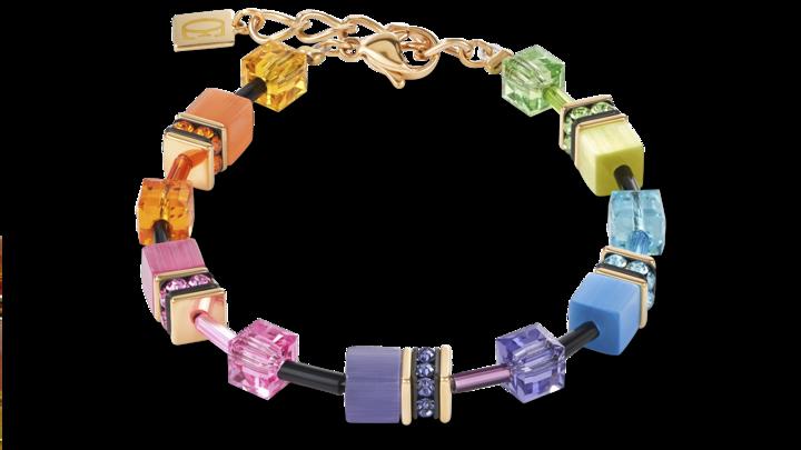 Bracelet GeoCUBE® multicolore rainbow gold