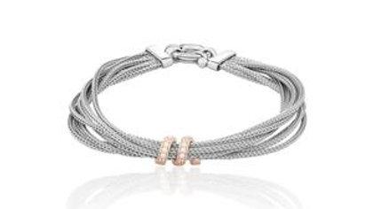 Bracelet en argent bicolore Volubile