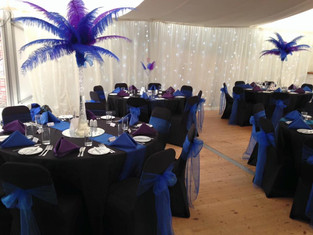 Southsea Castle Marquee in all its glory, we even added fairy lights to the walls
