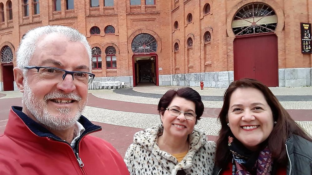 Geraldo, Katia e Marilu, ex-aluna da EMM