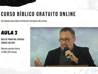 Curso online prossegue nesta sexta-feira (11.06), às 20 horas