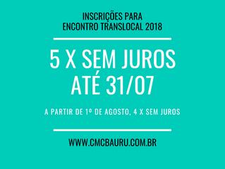 Translocal: 5 x sem juros até 31/07