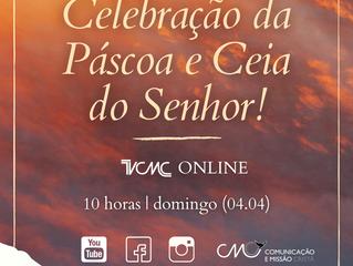Páscoa com a Ceia do Senhor online neste domingo