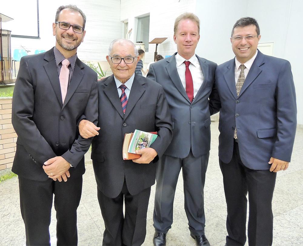 Rubens Lucas, Abílio Chagas, Irson Moreira e Marcus Lopes em recente visita a Patrocínio, no último mês de janeiro