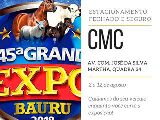 Estacione na CMC durante a Expo