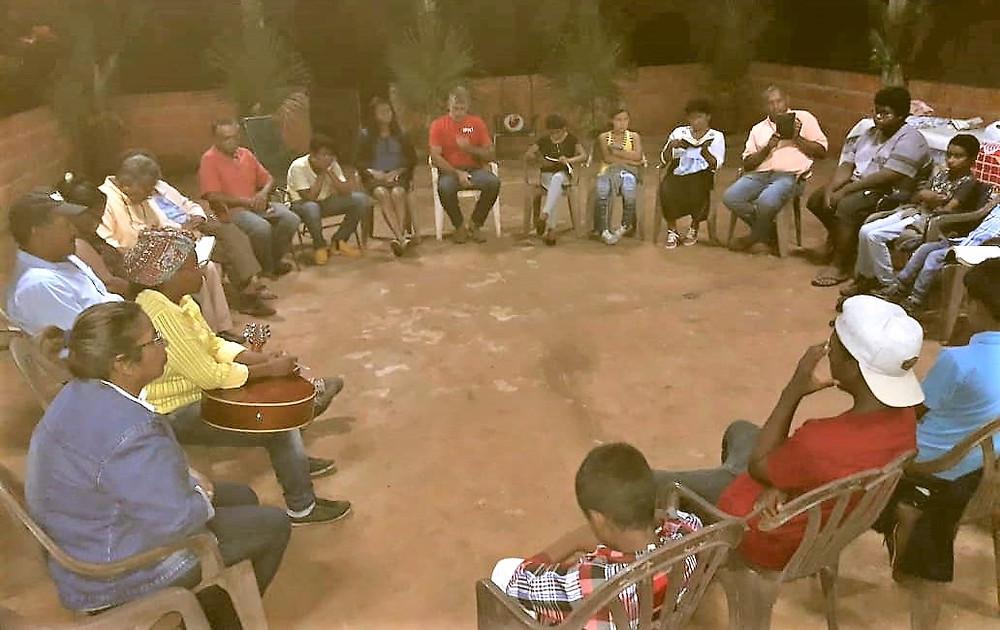 Reunião na comunidade quilombola do Vale de São Miguel/MS