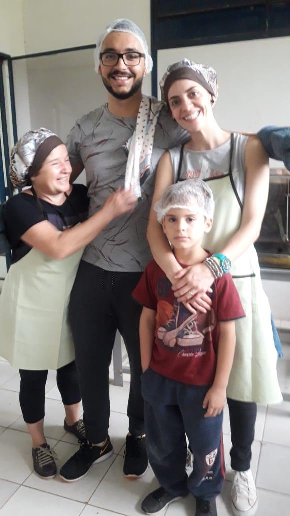 Maria Caciola, Bruno e Tássia Reis, Miguel