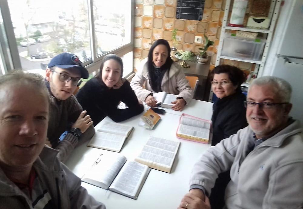 Irson, Nathan, Giovana, Lucilene, Katia e Geraldo