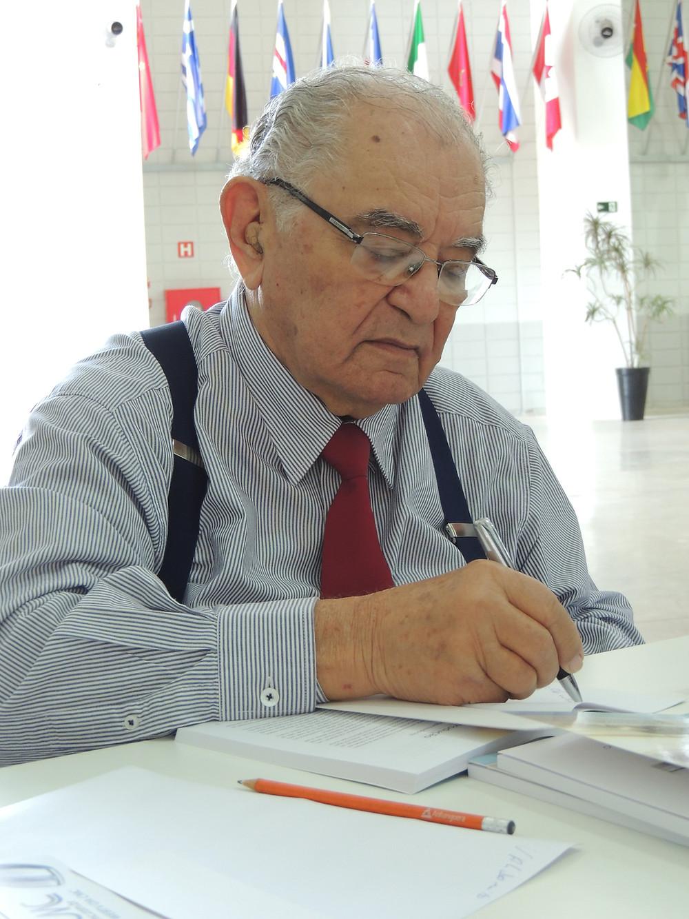 Abílio Pinheiro Chagas no lançamento do livro Evangelismo, da Série Formação de Líderes, em 2016