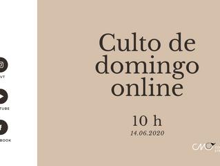 Juntos online neste domingo