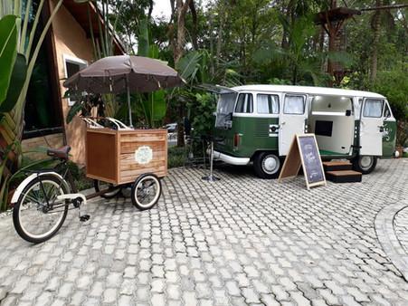 Instant Kombi + Bike Retro no seu casamento