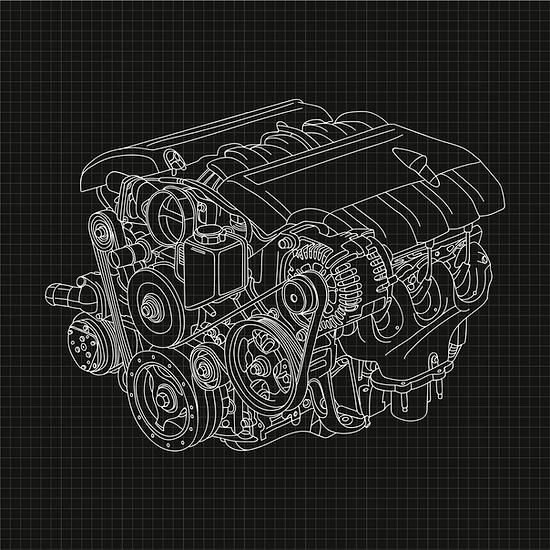 Car Engine Hand Drawing Illustration.png