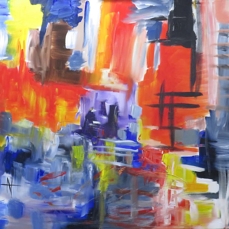 Abstrato expressionista – pinturas de Natália Gromicho
