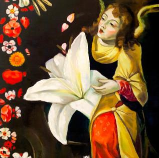 Homage to Josefa de Óbidos with lily,70