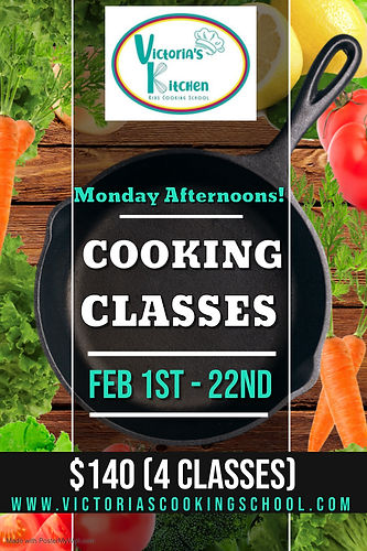 Feb 2021_Monday Cooking Classes Poster -