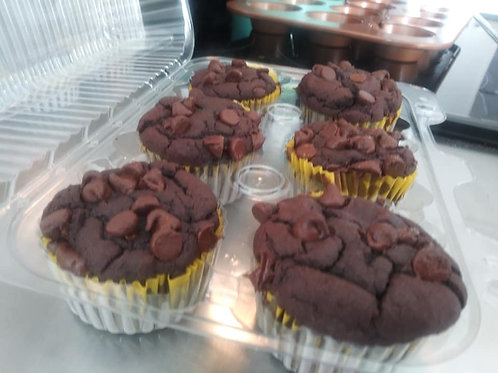 Regular Chocolate Muffins (Dozen)