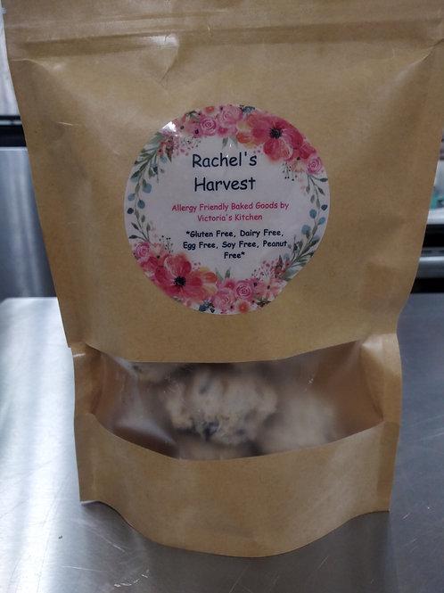 Rachel's Harvest: Frozen GF Vegan Chocolate Chip Cookie Dough Balls (12)