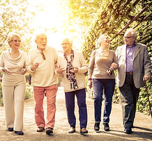 Group of old people walking outdoor_edit