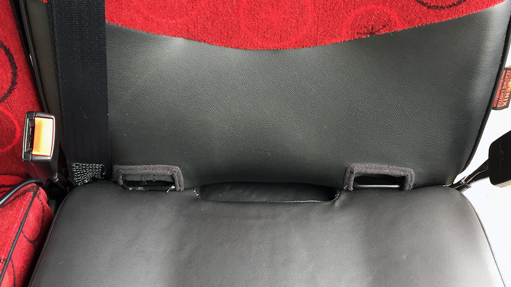 Phoenix Seat with cut outs for harness
