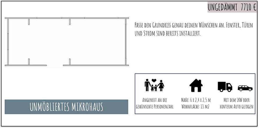 Unmöbliertes Mikrohaus