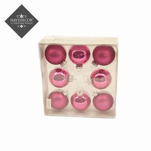 Pack 8 bolas de cristal pink