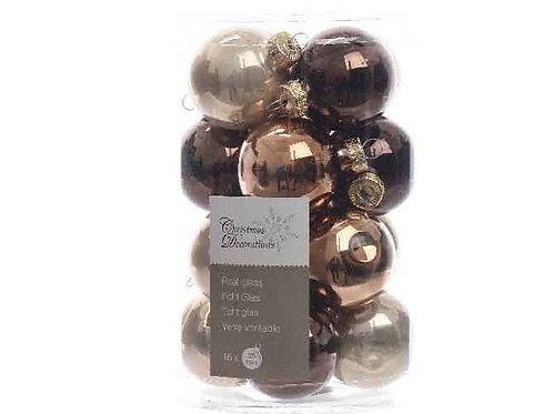 Pack 20 bolas marrón mix