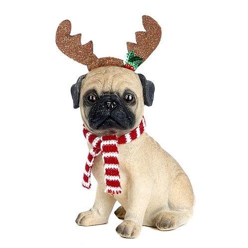 Perro hucha navideño