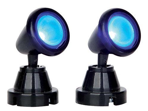 Round spot light blue