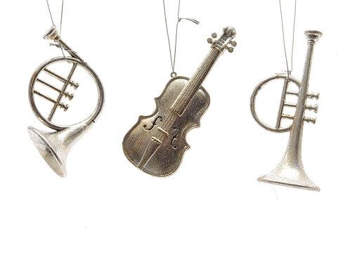 Instrumento musical plateado