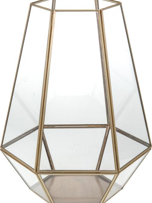 Portavelas Metal/Cristal