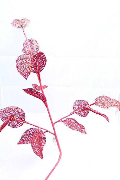 Rama hojas rojas
