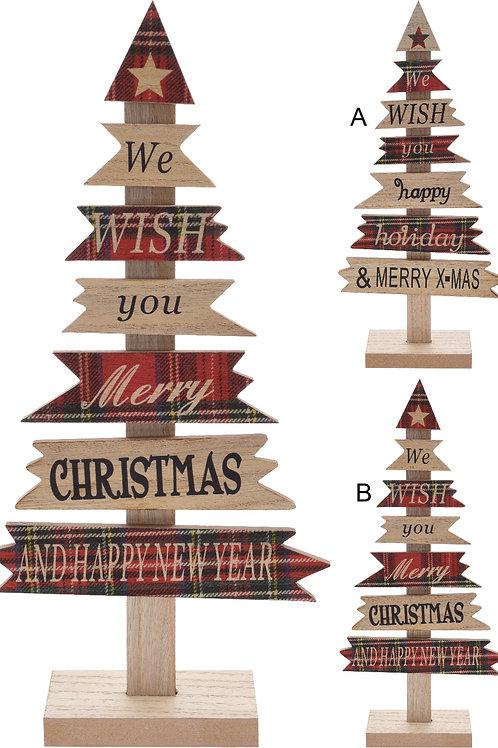 Árbol de madera Merry Christmas