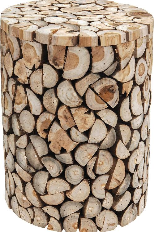 Taburete tronco circular