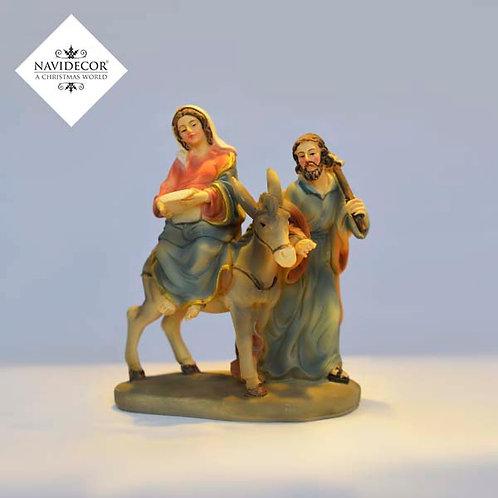 Escena Jesús y Maria con asno