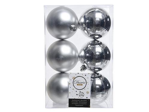 Pack 6 bolas plata
