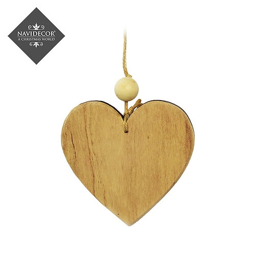 Colgante madera corazón