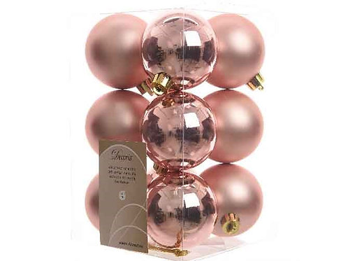 Pack 12 bolas pink champagne