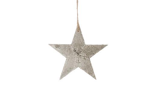 Estrella madera gris