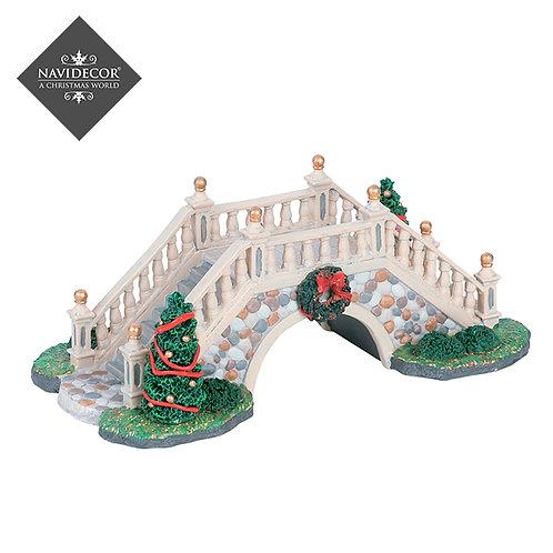 Puente blanco navideño