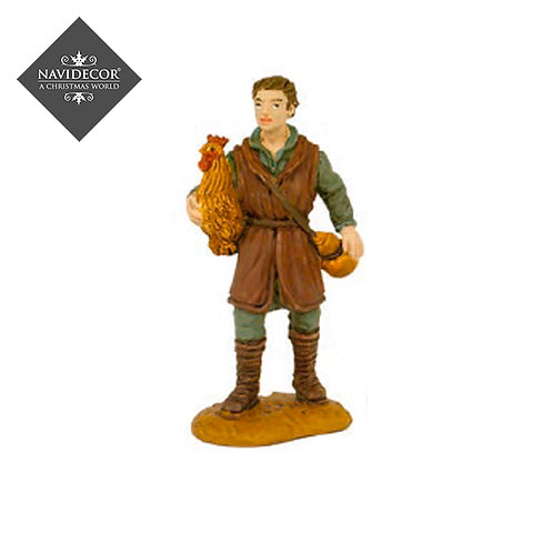 Oliver pastor con gallina