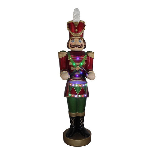 Nutcracker animado, con luz y movimiento LED-50x45x159
