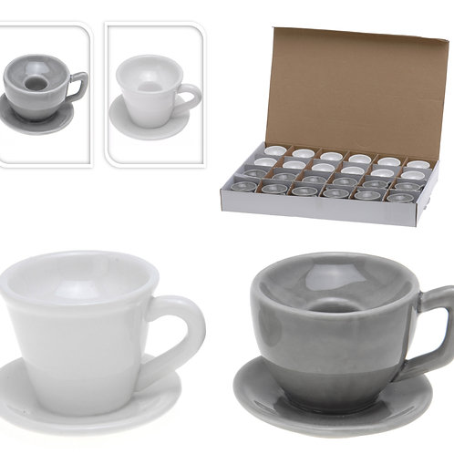 Portavelas taza de café