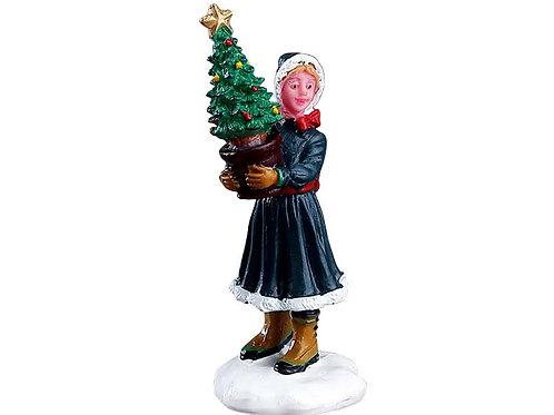 Chica con árbol