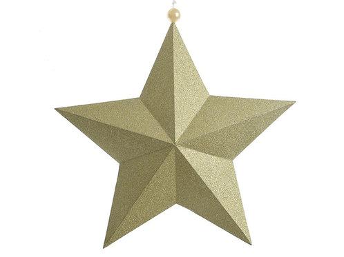 Estrella dorada con perlita